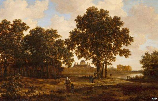 The Hague Forest with a View of Huis ten Bosch Palace by Joris van der Haagen