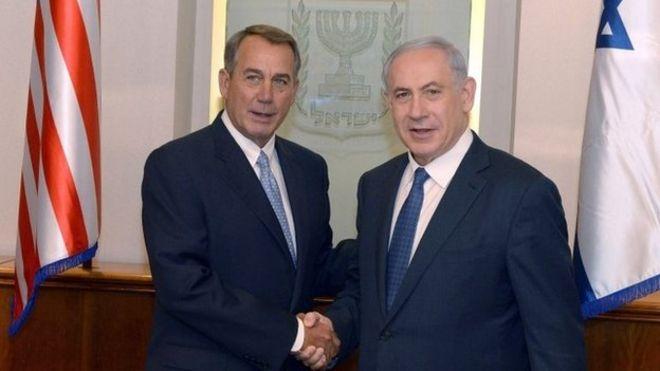 John Boehner and Bibi Netanyahu