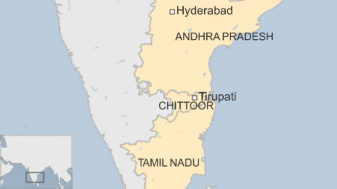 map of chittoor, india