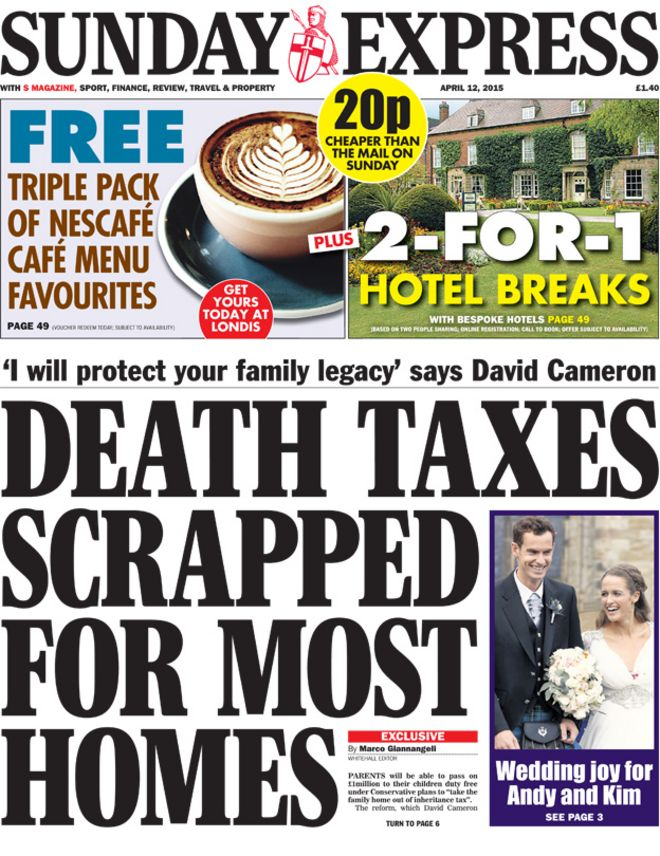 an analysis of the newspaper the sunday times and the sunday express The icon shows which newspapers offer a voucher scheme to find out more about these voucher schemes, just click on any of the symbols, or visit our voucher subscriptions page.