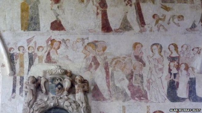Medieval wall paintings in St Mary's Church in Chalgrove