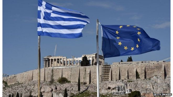 Flags and the Acropolis