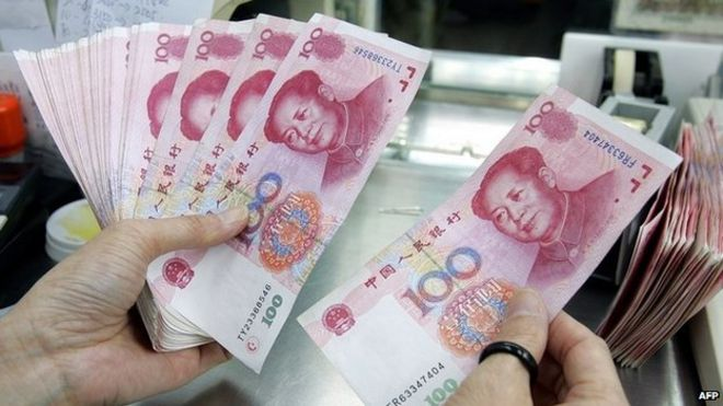 Chinese currency, the Yuan, or RMB