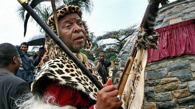 South Africa's Zulu King, Goodwill Zwelithini, pictured at a ceremony in 2008