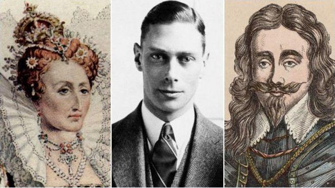 Elizabeth I. George VI, Charles I