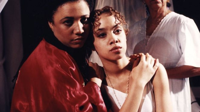 Nimmy March as Lady Capulet, Marcelle Dupre as Juliet 1996, BBC
