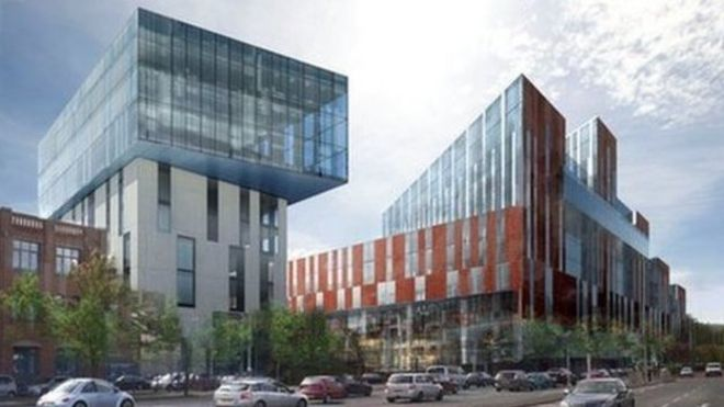 An artist's impression of the new Ulster University Belfast campus