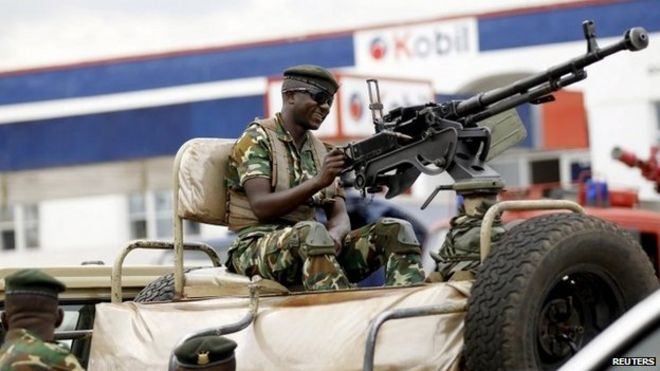 Burundian soldier guards ruling party congress - 25 April