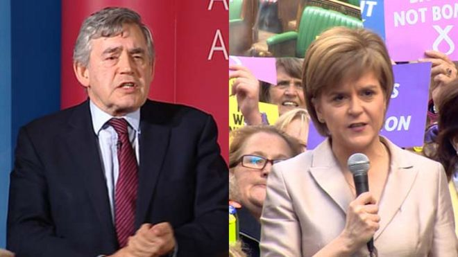 Former Prime Minister Gordon Brown has said the SNP have a