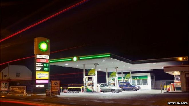A BP service station
