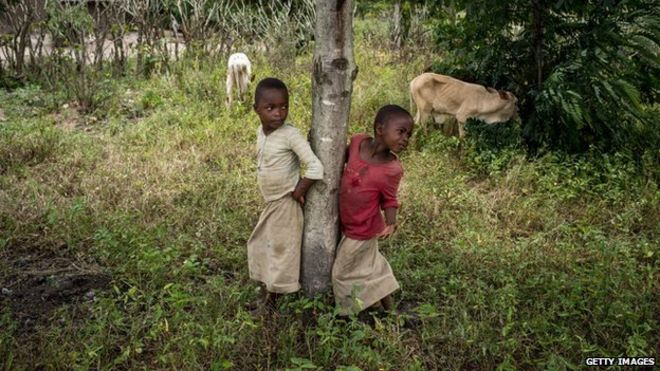 Two Rwandan children