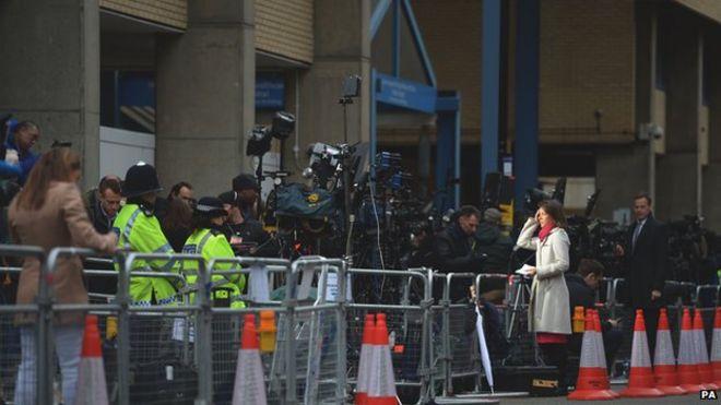 Media outside Lindo Wing