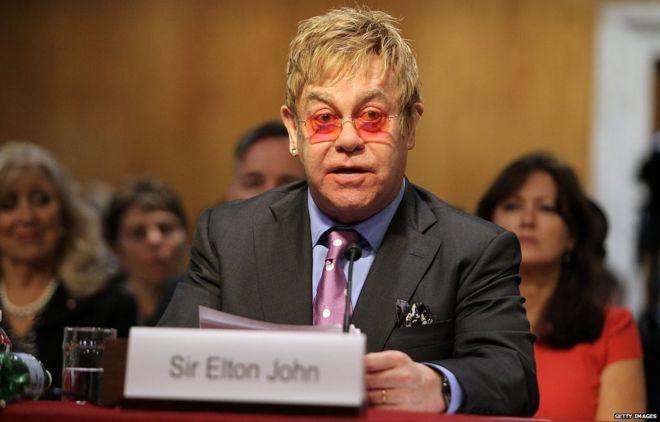 Sir Elton testifying before a US Senate hearing