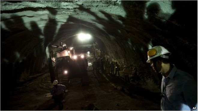 Digging tunnel in Brazil