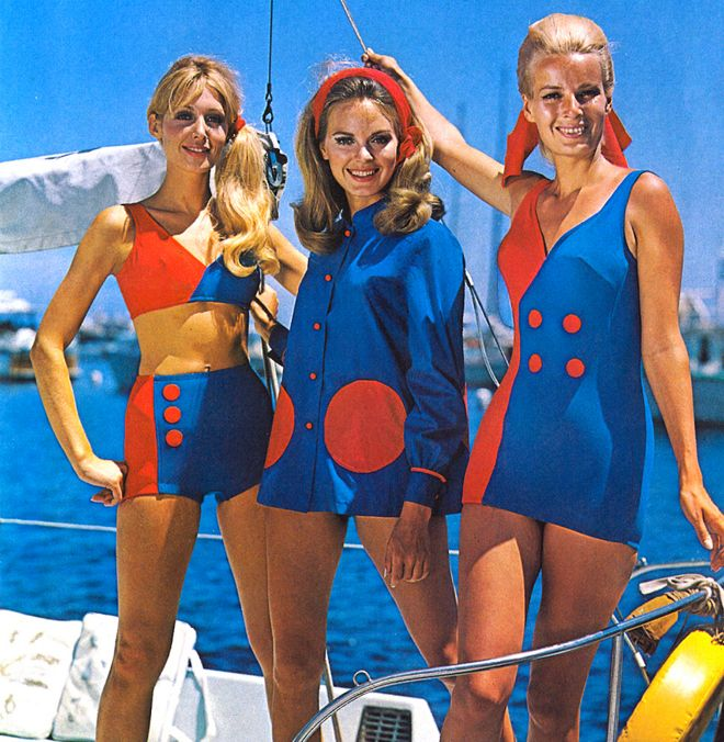 Archive swimwear design by Oleg Cassini, for R and W H Symington
