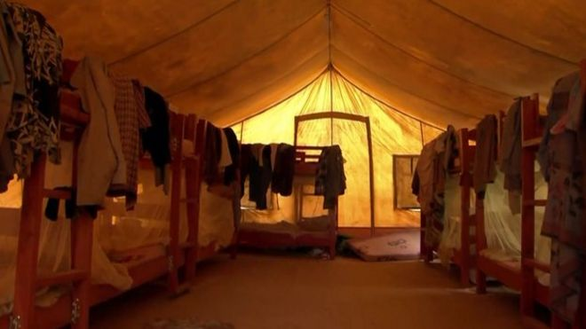 inside the camp