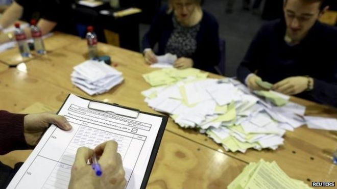 Gay marriage referendum votes being counted in Dublin