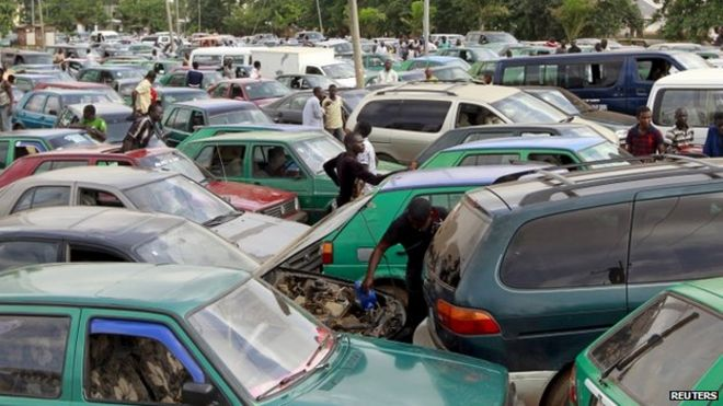 Fuel queue in Lagos