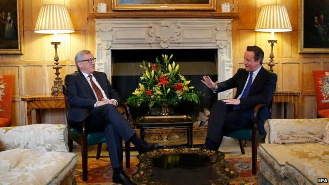 David Cameron and President Juncker