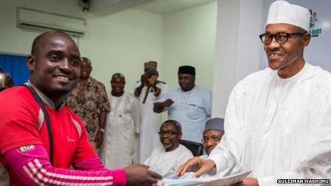 Nigerian Treks 750km To Meet Buhari