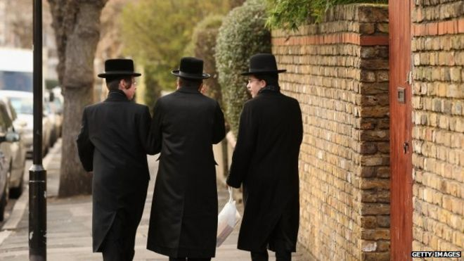 Stamford Hill in north London is home to a community of Hasidic Jews, including members of the Belz sect
