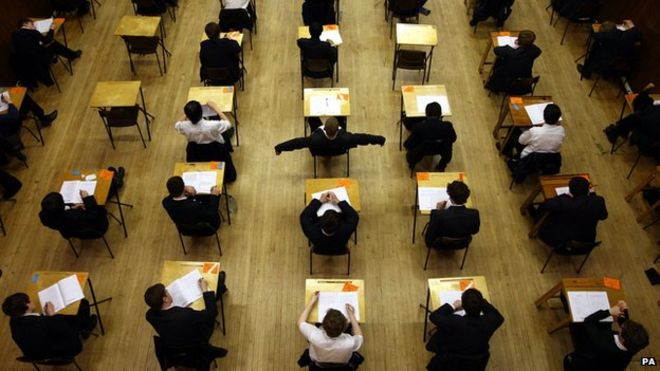 Pupils taking exam