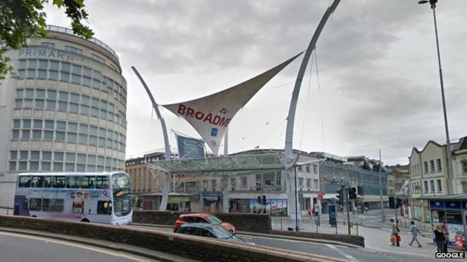 View of Broadmead shops, Bristol