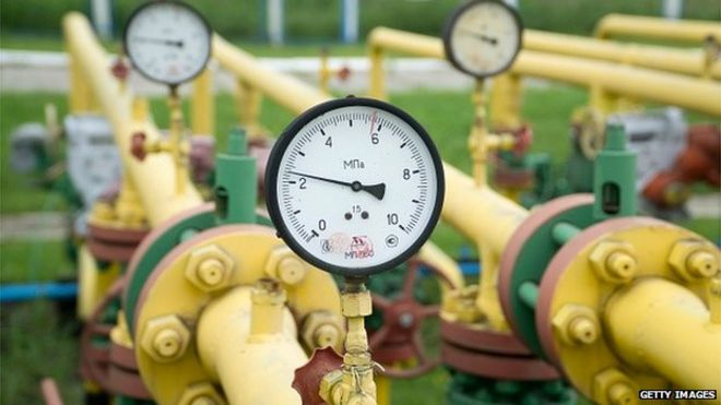 Pressure gauges on gas pipes in Ukraine