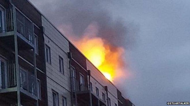 flat on fire