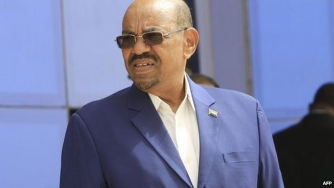 Sudan Omar al-Bashir pictured earlier this week