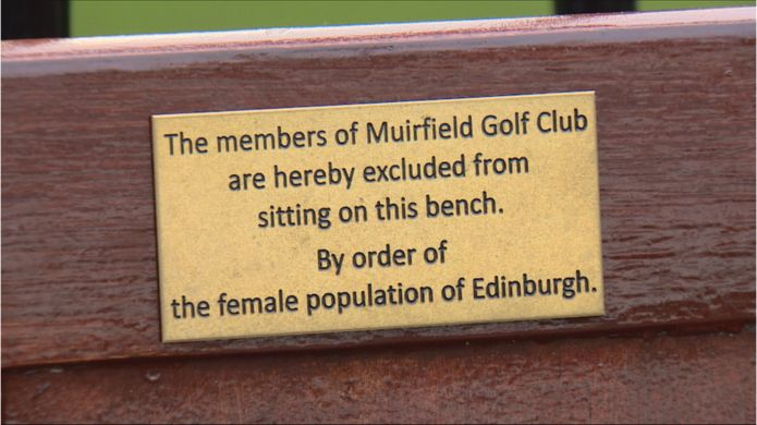 Bench plaque
