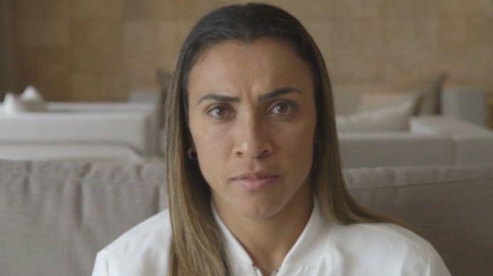 A jogadora Marta
