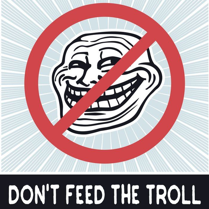 Don't feel the troll sign