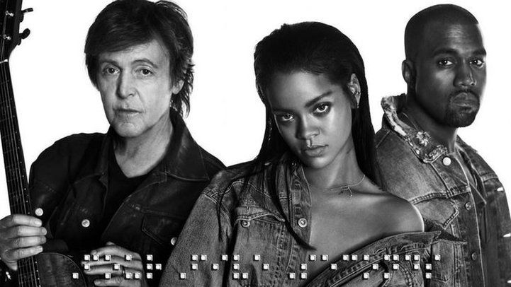 Kanye West, Rihanna and Paul McCartney