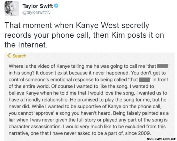 Taylor Swift statement