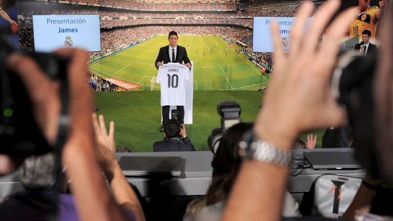 Presentación de James Rodríguez