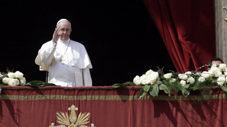 Pope Francis in Rome, 27 March
