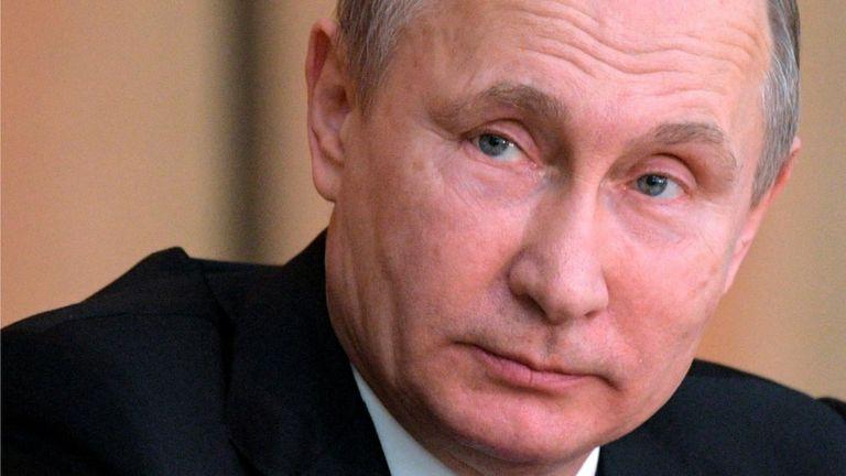 Presidente ruso Vladimir Putin
