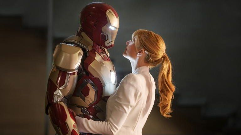 Robert Downey Jr and Gwyneth Paltrow in Iron Man 3