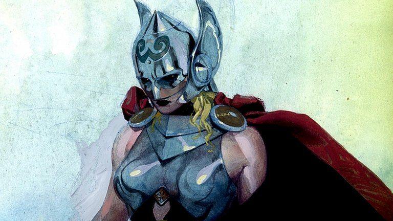 Marvel Comics image showing superhero Thor recast as a woman. 15 July 2014