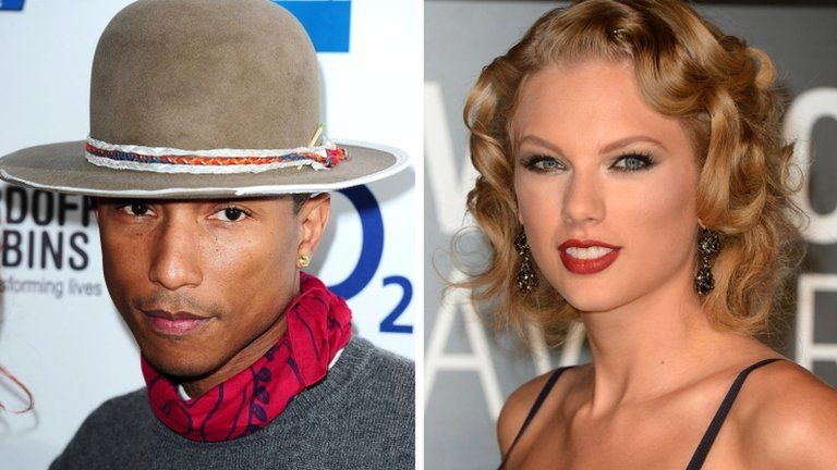 Pharrell Williams and Taylor Swift