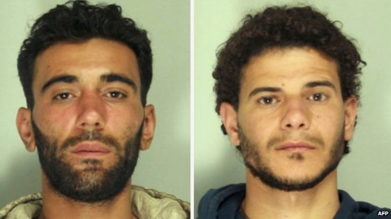 Mohammed Ali Malek, 27, (left) and Mahmud Bikhit, 25, 21 April