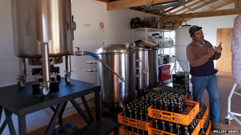 A view of the Atrapanieblas Brewery