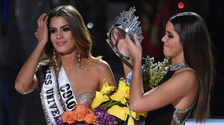 The Miss Universe crown is removed from Miss Colombia