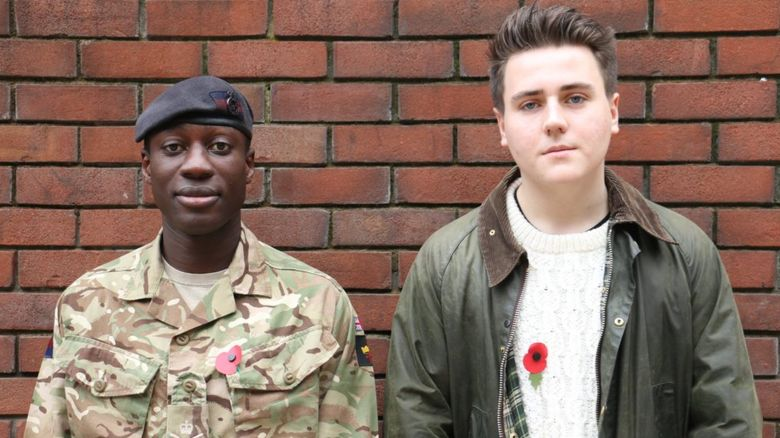 Lance Corporal of Horse David Boachie-Ansah with Tommy Sissons