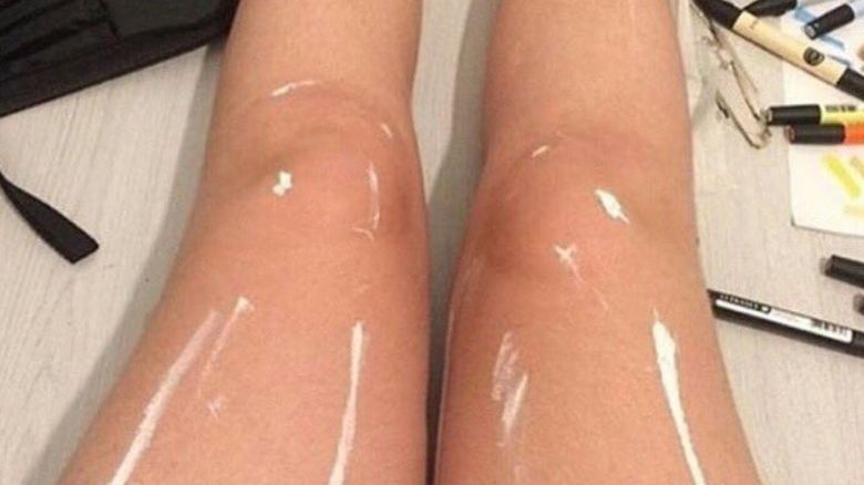 Are these legs shiny or covered in paint?