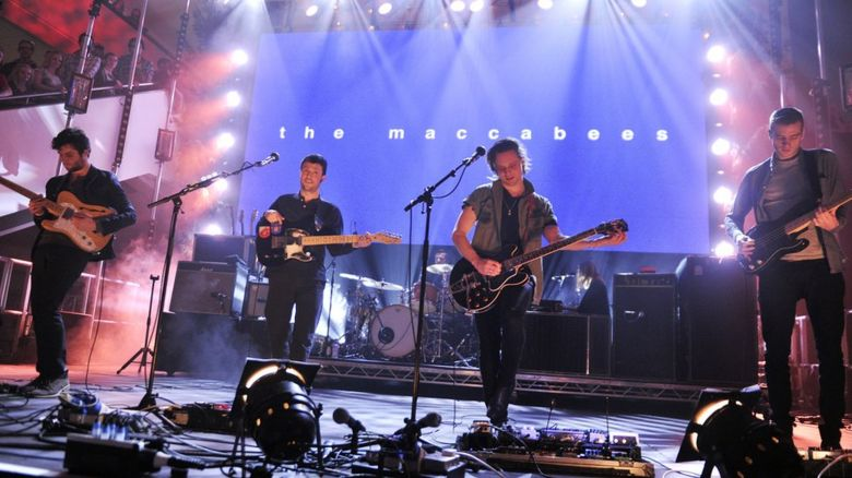 The Maccabees performing