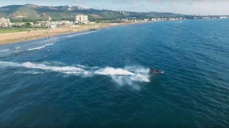 A jet ski off the Syrian coast