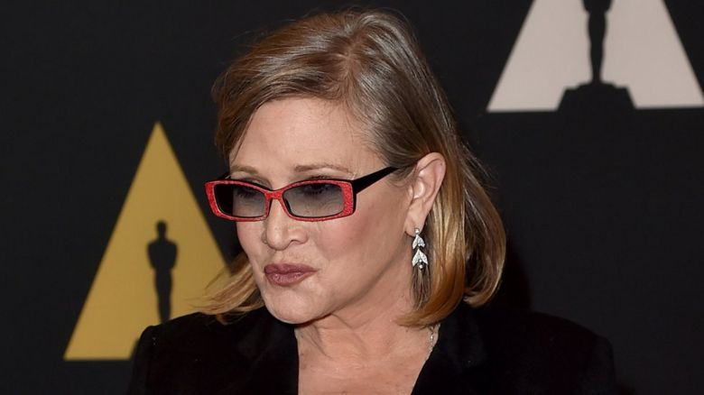 Carrie Fisher earlier in 2015