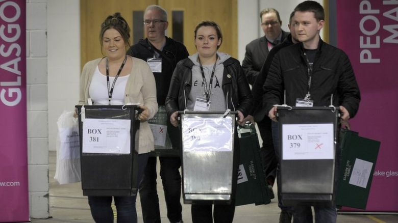 Young voters and ballot boxes